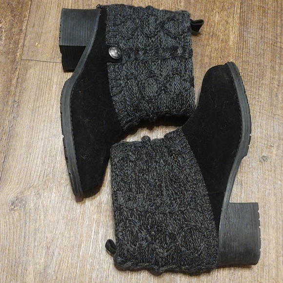 Muk luks fur lined heeled ankle boots
